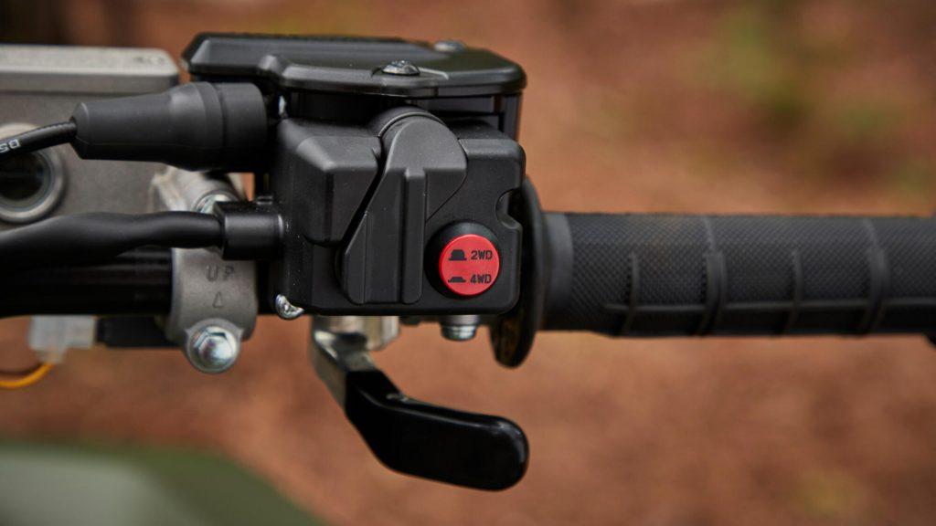 bouton commande roues motrices Yamaha Kodiak 700 EPS